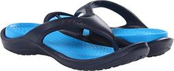 Crocs Men's 10024 Athens Flip Flop,Navy/Ocean,10 M US