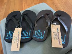 2 Pairs KIDS Girls FLIP FLOPS SANDAL ARCH SUPPORT SIZE 13/1