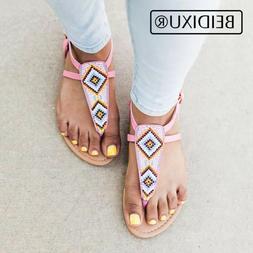 2018 Woman Summer Flat Sandals Ladies Flip Flops Bohemia Bea