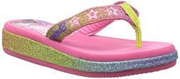 Skechers Girl's, S Lights Sunshines Flipslide Fave Sandals M