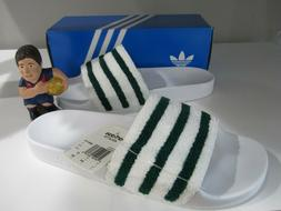 Adidas Adilette Slides Sandals White Green BB0124 Sz 11 Orig