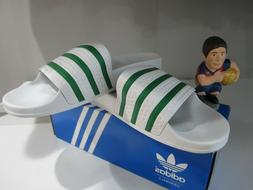 Adidas Adilette Slides Sandals White Green S78678 Sz 11 Orig