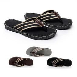 Anti-slip Leather Men's Thong Flip-Flops Summer Beach Sandal