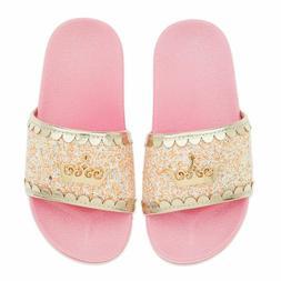 Disney Authentic Princess Crown Slides Flip Flops Girls Sand