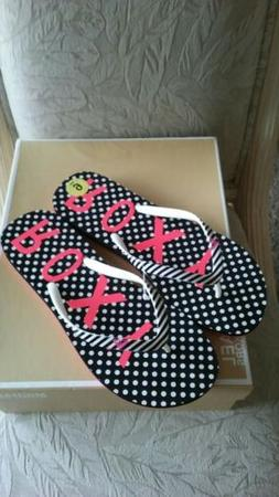 "AUTHENTIC "" ROXY "" WOMEN'S BLK STRIPED & POCO DOT SIGNATURE"