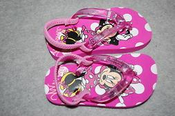Baby Toddler Girls PINK SPARKLE MINNIE MOUSE FLIP FLOPS Ankl