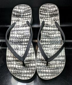 """VIONIC BEACH B/W Sandals Flip Flops Platform Wedge """"Bronte"""""""