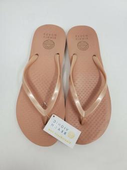 Vionic Beach Noosa Rose Gold Pink Womens 9 Flip Flops