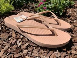 Vionic Beach Noosa Womens Rose Gold Flip Flops Sandals Thong