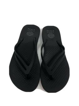 Vionic Beach Sz W8 EU 39 Black Flip Flops