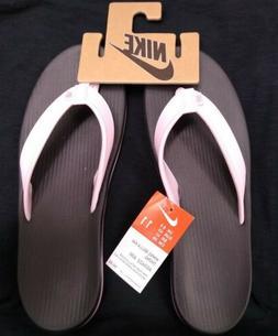 NIKE BELLA KAI THONG Women's PINK FOAM METALLIC SILVER Size