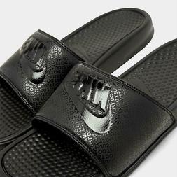 Nike Benassi JDI Slides Sandals - Triple Black Mens SIZE 10