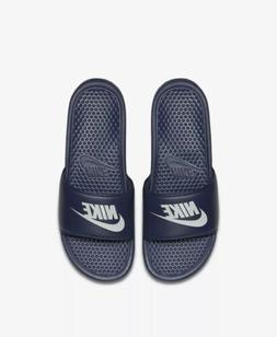 Nike Benassi Swoosh Men's Navy Blue Sandals Slides Slippers