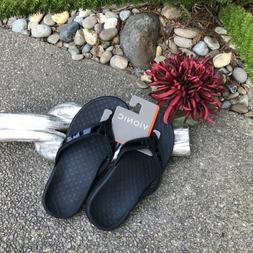 Vionic Black Tide II Toe Post Sandals Flip Flops NEW