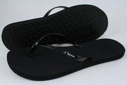 REEF BLISS BLACK/SILVER GRAY FLIP FLOPS THONG SANDALS BEACH