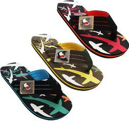 Norty Boy's Shark Flip Flop Thong Sandal Perfect for the Bea