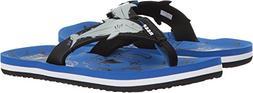 Reef Boys' AHI Sandal, Blue Shark, 7-8 Medium US Toddler