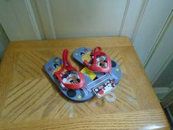 Boys Mickey Mouse Flip Flops by Disney Size Large  NEW WITH
