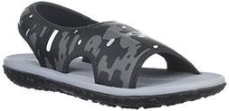 Under Armour Boys' Pre School Fat Tire II Slide Sandal, Blac