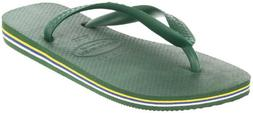 Havaianas Women's Brasil Flip Flop,White,37/38 BR/7-8 M US