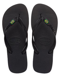 Havaianas Men's Brasil Logo Flip Flop ,White,39/40 BR