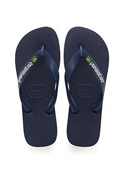 Havaianas Brazil Logo Flip Flop Sandal, Marine Blue, 39/40 B