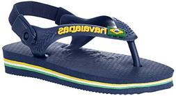 brazil logo sandal green flip