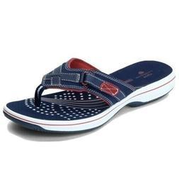 CLARKS Breeze Sea Flip Flops SANDALS  Cloudsteppers Shoes NE
