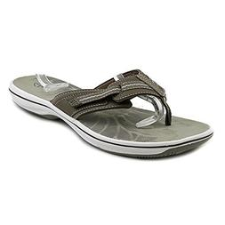 Clarks Brinkley Womens Brinkley Jazz Thong Sandal, Pewter, 8