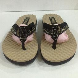 Skechers Cali Flip Flops Thong Sandals Brown Womens Sz 7 Lea