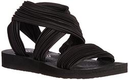 Skechers Cali Women's Meditation-Still Sky Flat Sandal,black