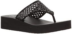 Skechers Cali Women's Vinyasa Flow Wedge Sandal, Black Cutou