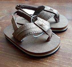 Capelli New York Kids Brown Flip Flops Sandals Size 4-5