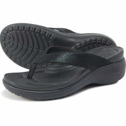 Crocs Capri Flip-Flops Black - Choose Size