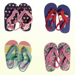 Carters Oshkosh B'gosh Baby / Toddler Girls Flip Flops W Bac