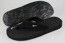 NIKE CELSO GIRL THONG BLACK/WHITE FLIP FLOPS BEACH SANDALS W