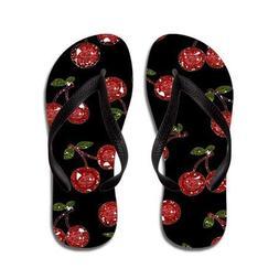 Lplpol Cherries Flip Flops Kids S Black Flip Flops Belt