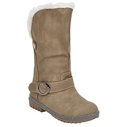 COPPEN Christmas Women Snow Boot Winter Martin Suede Buckle