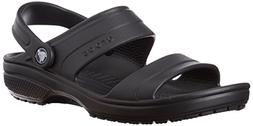 crocs Unisex Classic Dress Sandal, Black, 11 M US