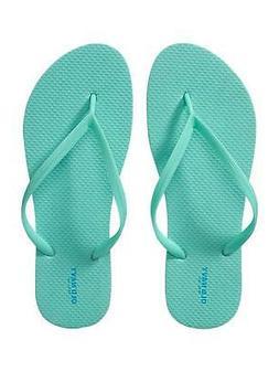 Classic Flip Flop Sandal for Women  Aqua Blue  Size 8