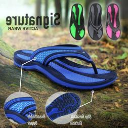 Comfort Cushion Arch Support Flip Flops for Men & Women by G