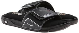 NIKE Men's Comfort Slide 2, Black/Metallic Silver/White, 9 D