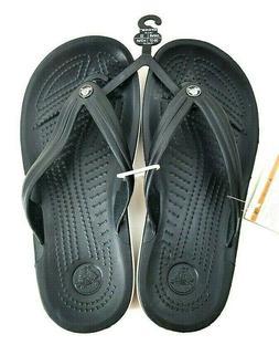 crocs Unisex Crocband Flip-Flop, Black, 8 US Men / 10 US Wom