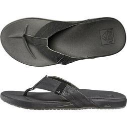 Reef Cushion Bounce Men's Sandals Super Soft Black Flip Flop