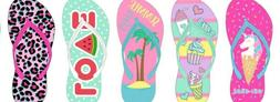 Cute Chatties Girls Flip Flops with Fun Prints Youth Sizes 1