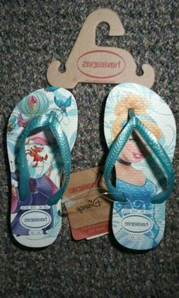Havaianas Disney Cinderella Blue Flip Flops for Kids Toddler