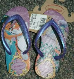 Havaianas Disney Jasmine Flip Flops Purple Size 9C Toddler K