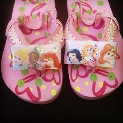 DISNEY PRINCESS Toddler Flip Flops with backs. Girls Toddler