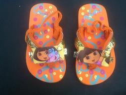 Dora the Explorer Toddler Flip Flops with backs. Girls Toddl
