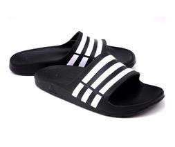 adidas Performance Kids' Duramo Slide Sandal ,Black/Running